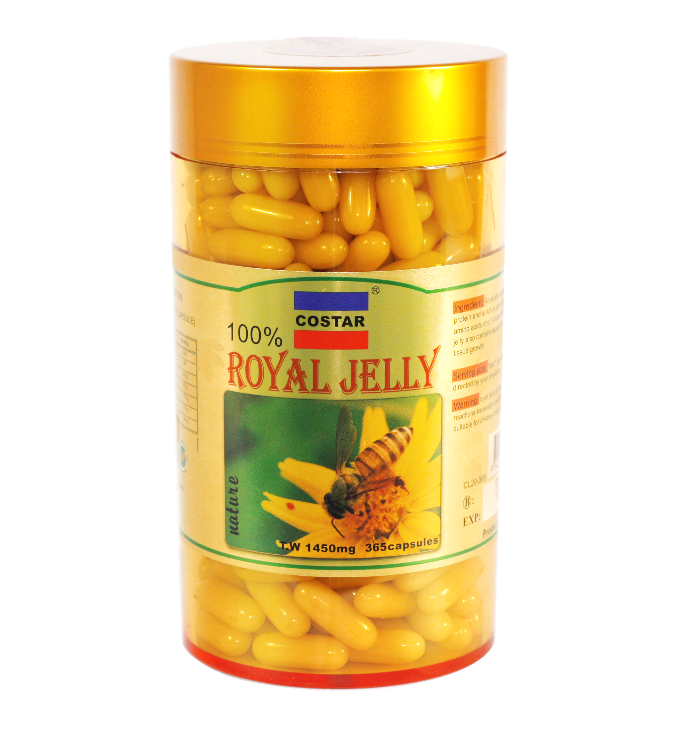 Costar Royal jelly 1450mg 365s
