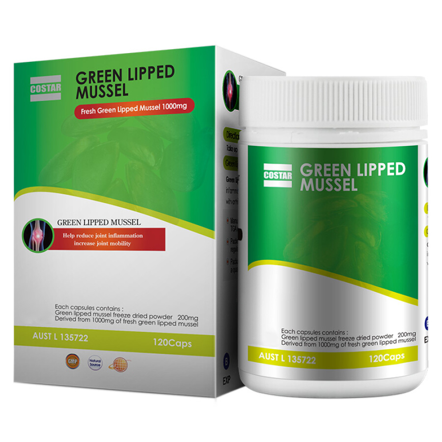 Costar Green lipped Mussel 200mg 120s